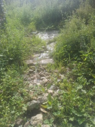 l'eau coule quelques mètres plus loin
