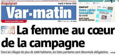 varmatin04022014_femmecampagne